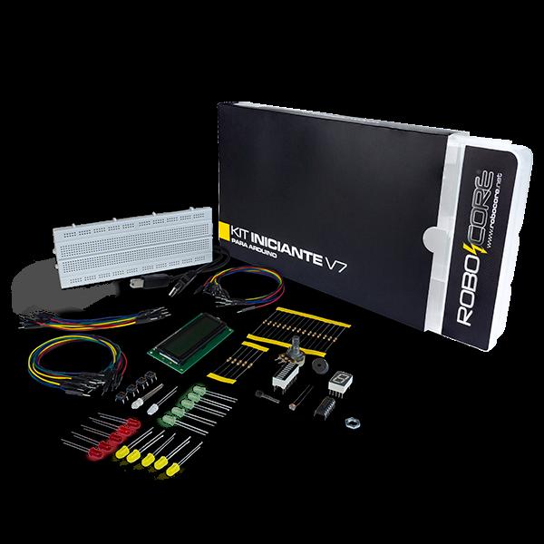 Kit iniciante v para arduino kits didáticos robocore