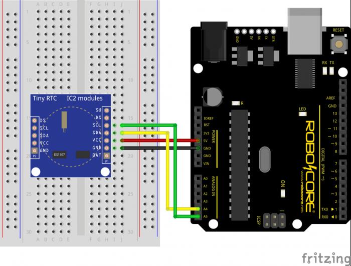 Conexao do RTC DS1307 com a  BlackBoard