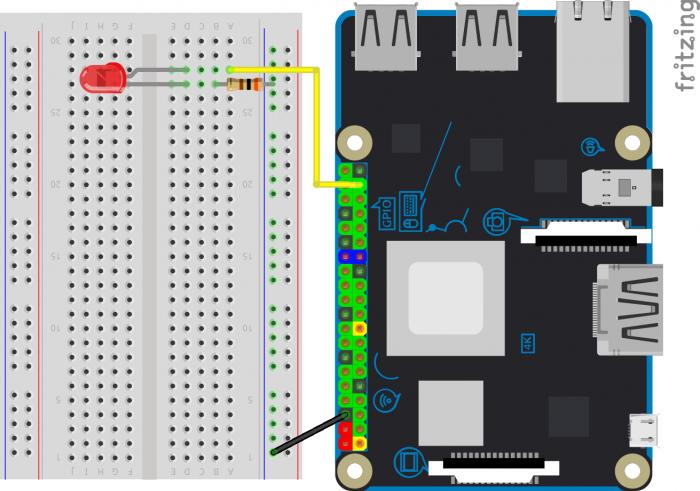 circuito um led