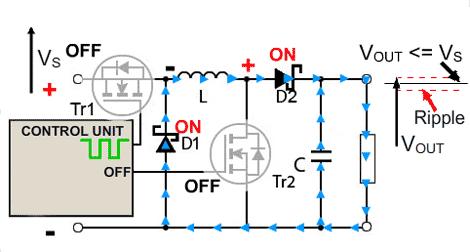 circuito-conversor-buck-boost-buck-desligado