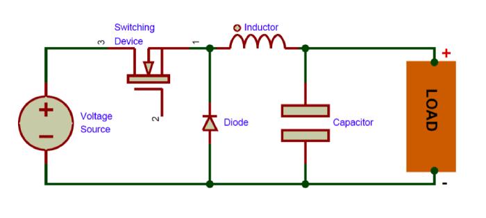 circuito-basico-conversor-buck