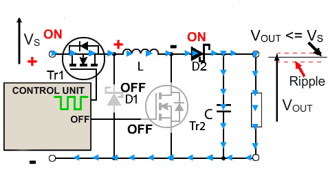 circuito-conversor-buck-boost-buck-ligado