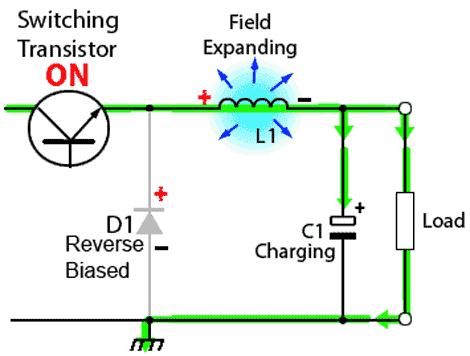 circuito-conversor-abaixador-chaveamento-ligado