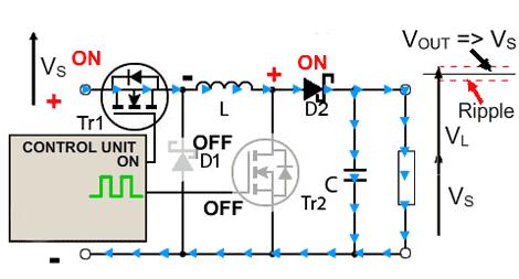 circuito-conversor-buck-boost-boost-desligado